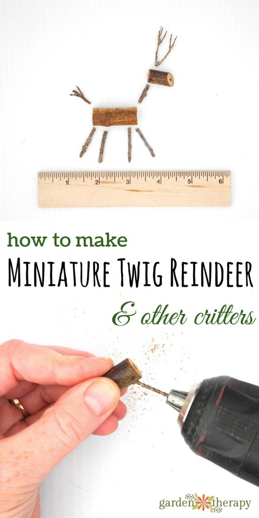 Use the steps to make these twig reindeer ornaments to create other critters