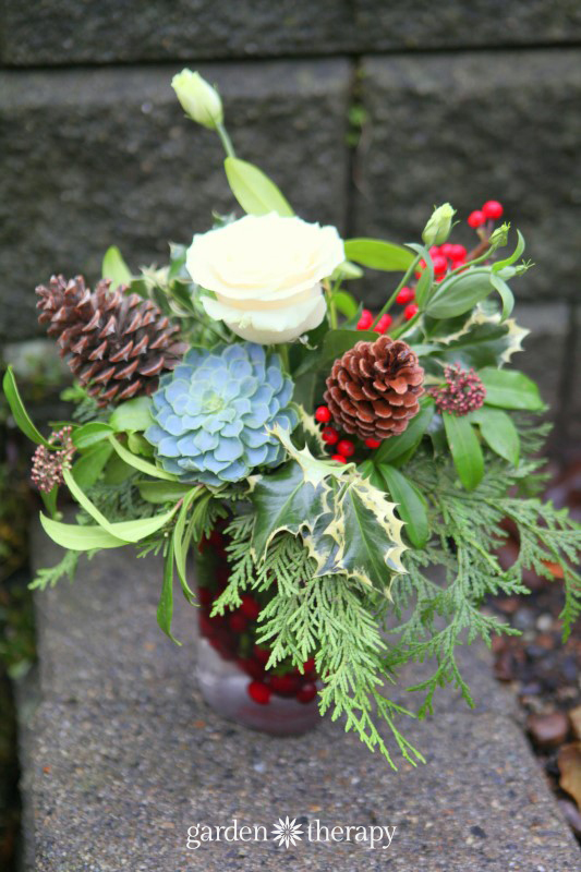 holiday flower arranging