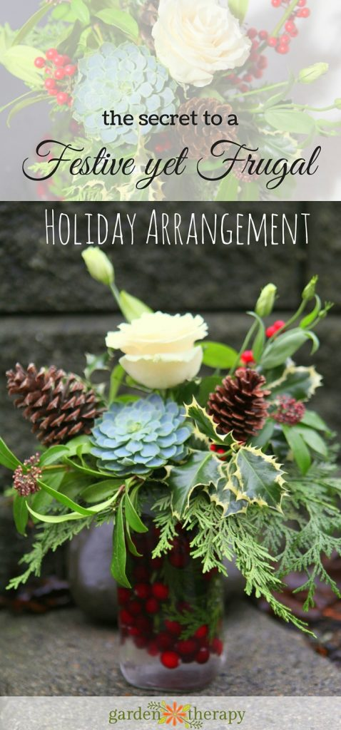 the secret to a STUNNING Holiday Flower Arrangement that costs almost nothing