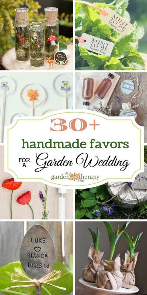 30+ Handmade Favors for a Garden Wedding