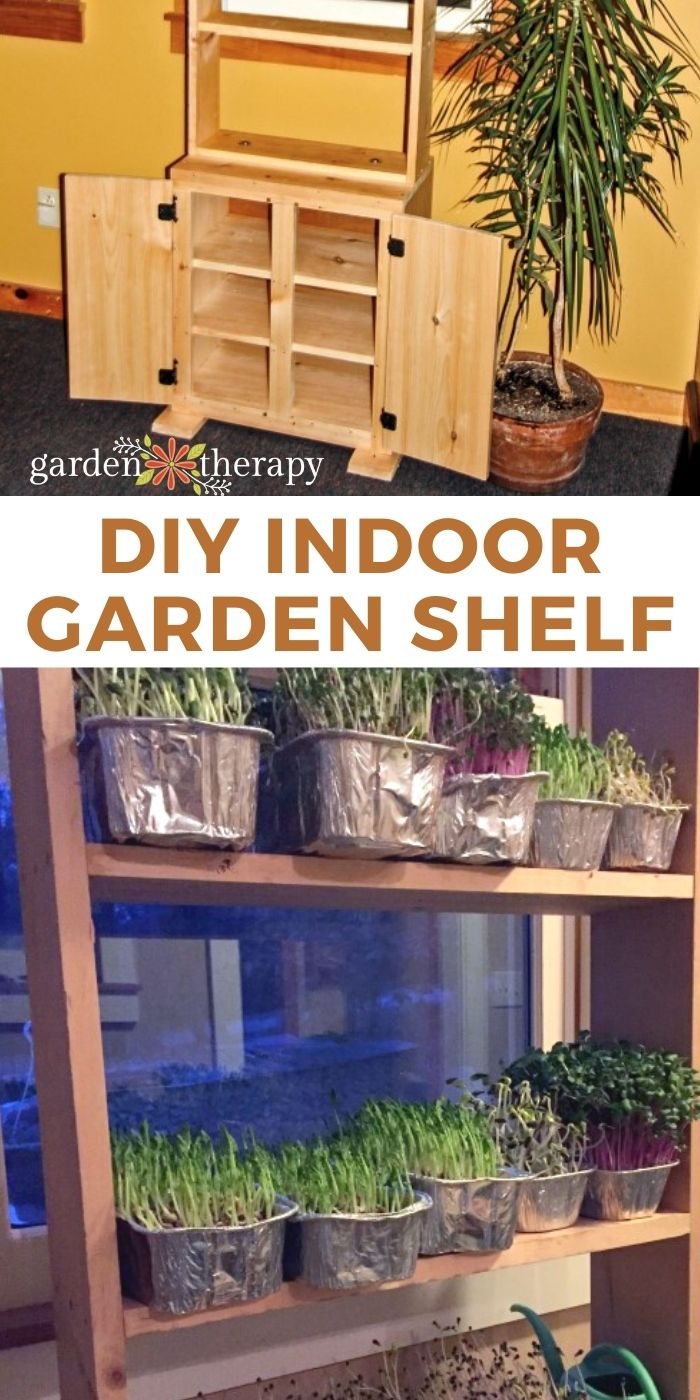 diy indoor plant shelf