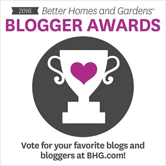 better homes and gardens blogger awards 2016