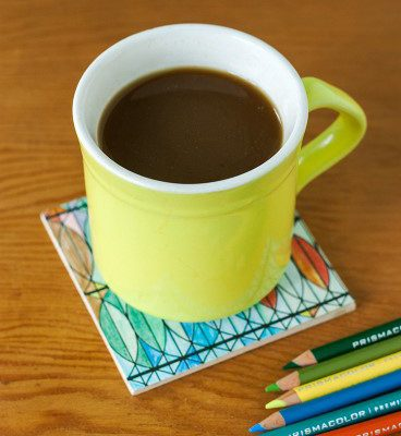 Turn Your Finished Coloring Art into Crafty Coasters!