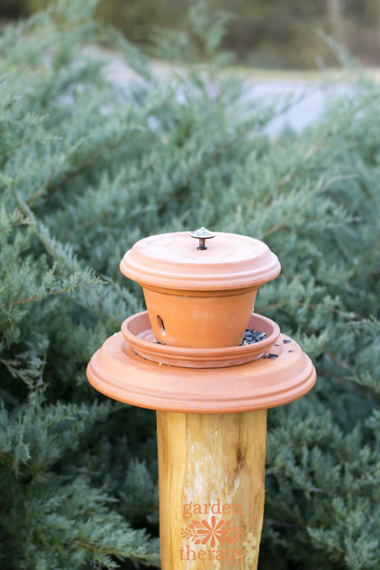 Finished Terracotta Bird Feeder