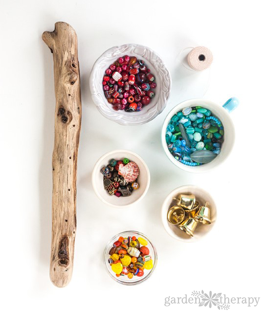 How To Make A Beaded Wind Chime With Bells Step 1