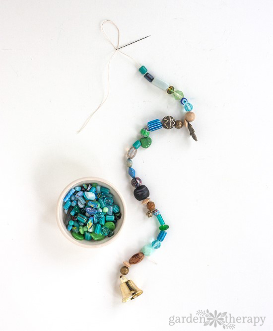 How to Make a Beaded Wind Chime with Bells Step (4)