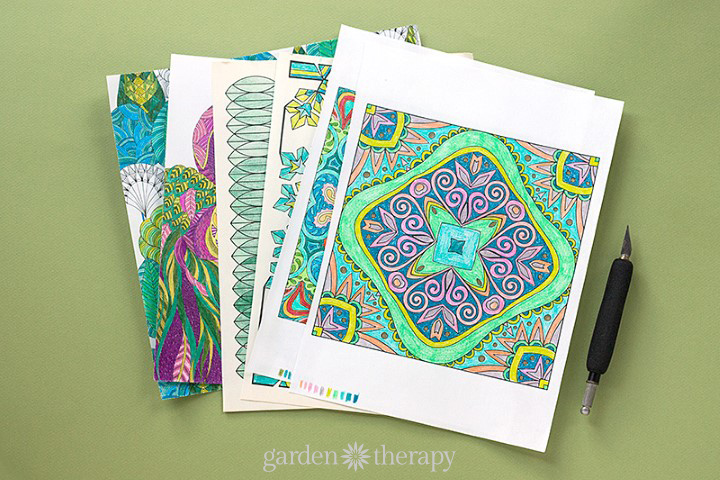 How to Re-purpose finished coloring pages