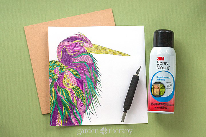 How to display finished coloring pages