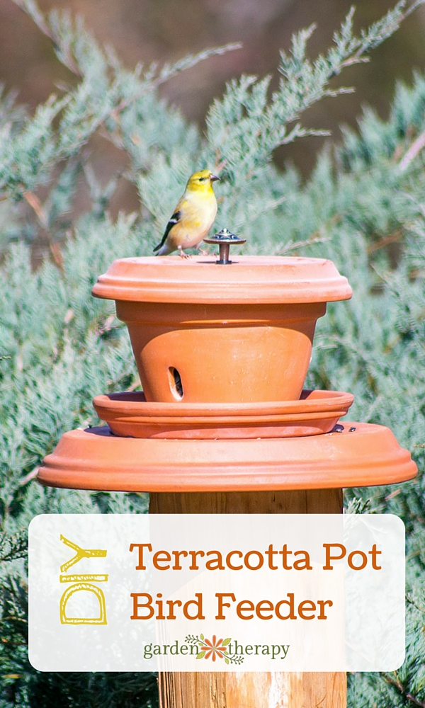 How To Make A Pedestal Bird Feeder Out Of A Terracotta Flower Pot