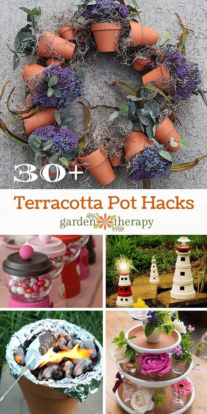 30+Terracotta Flower Pot Hacks