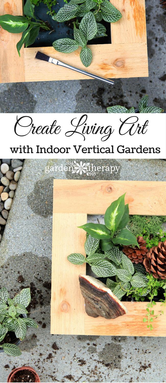 Create Living Art with Indoor Vertical Gardens