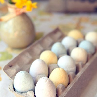 Easter Egg Bath Bombs Made with Natural Colors