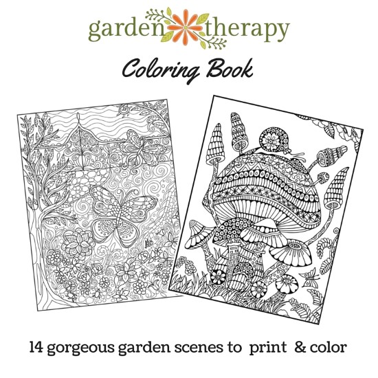 Get the Garden Therapy Coloring Book for Gardeners