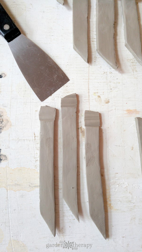 How to Make clay Plant Stakes Step (5)