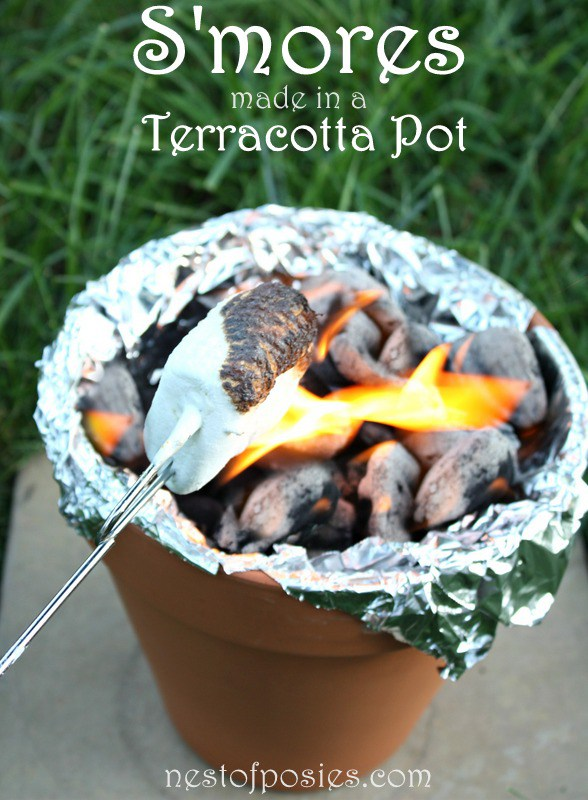 s'mores from 32 Terracotta Pot Hacks