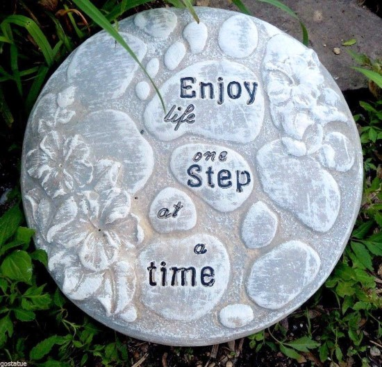 Enjoy every step concrete stepping stone mold