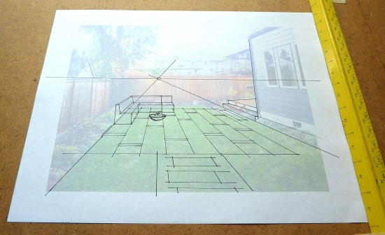 How to Create a Garden Perspective Drawing at Home Step (3)