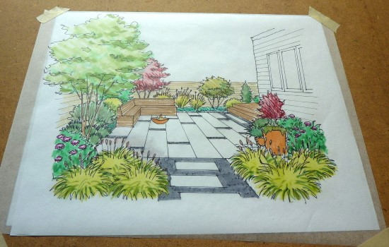 How to Create a Garden Perspective Drawing at Home Step (8)