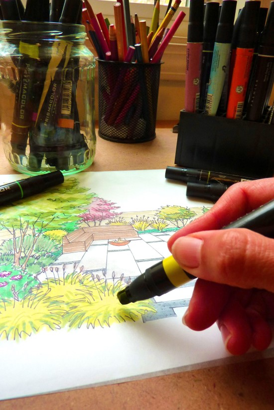 How to Create a Garden Perspective Drawing at Home in seven steps - tips from a landscape designer