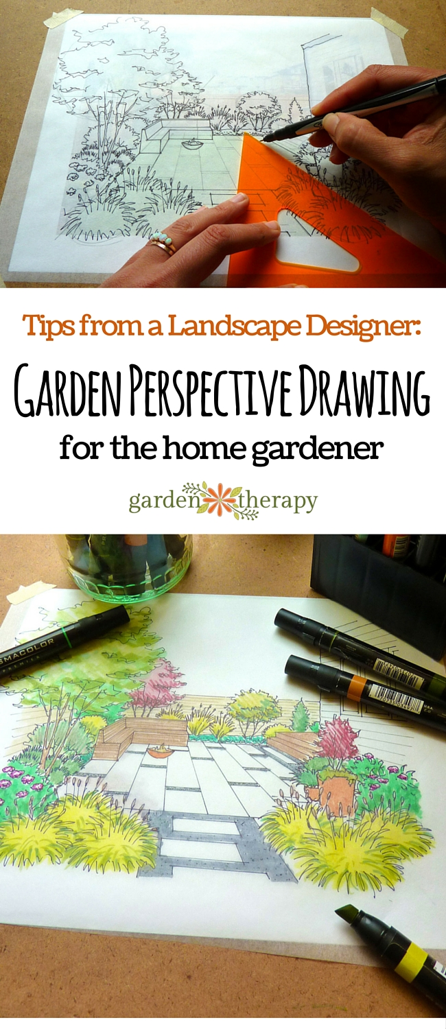 How to Create a Garden Perspective Drawing at home