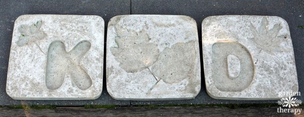 Monogrammed Stepping Stones from Concrete