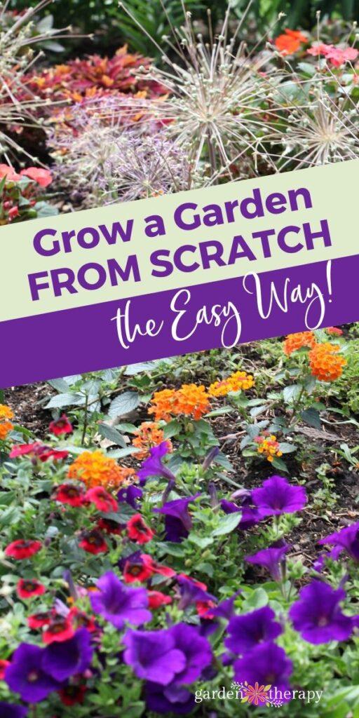 how to grow a garden from scratch