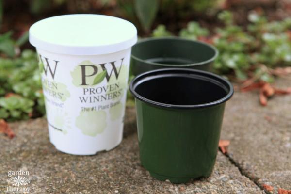 Plastic nursery plant pots