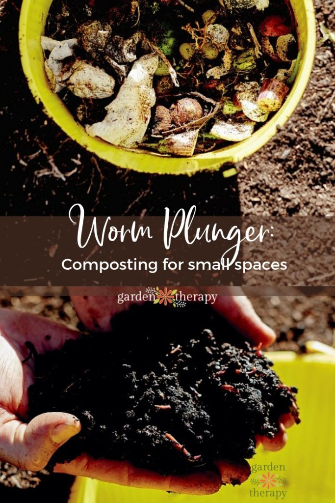 Worm Plunger Composting for Small Spaces