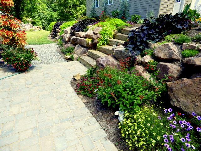Gorgeous Rock wall garden tour