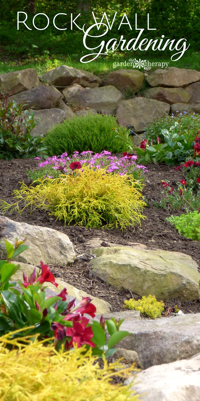 Creating beauty and structure with a rock wall garden for Rock wall garden