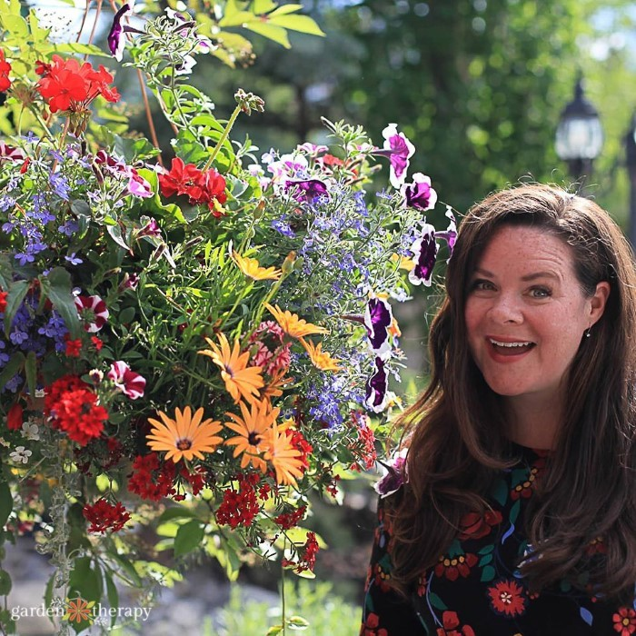Stephanie Rose with Hanging Basket Planter