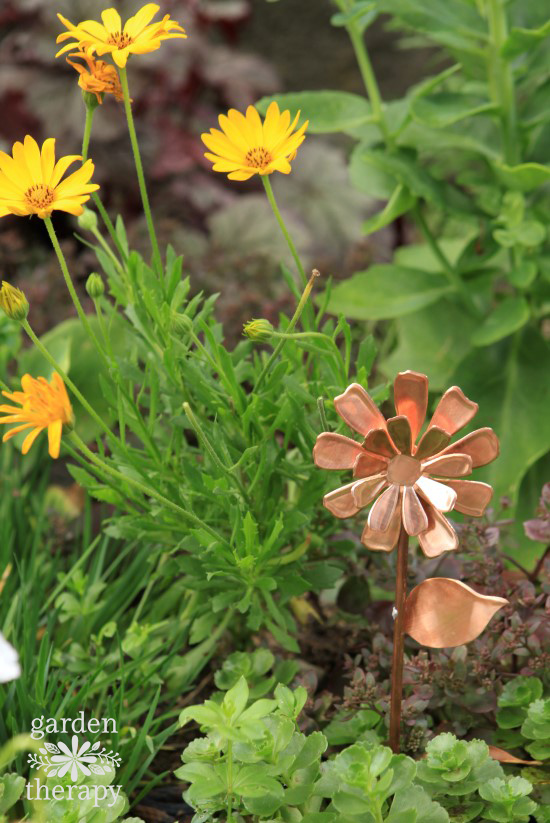 Copper Garden Art Flower - Daisy