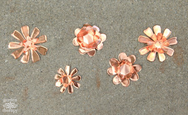 Copper Garden Art Flowers DIY