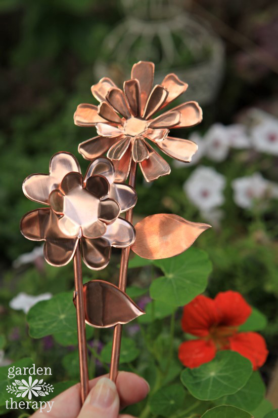 Copper Garden Art Flowers DIY Project