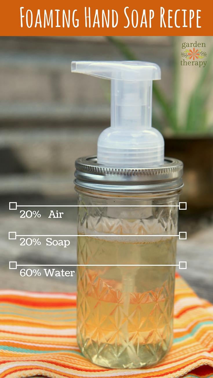 Homemade Foaming Hand Soap Recipe A Diy Mason Jar Soap