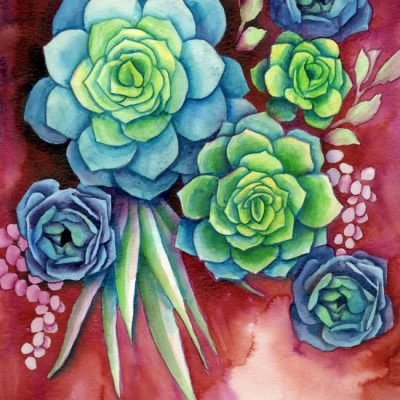 How to Paint Watercolor Succulents the Easy Way