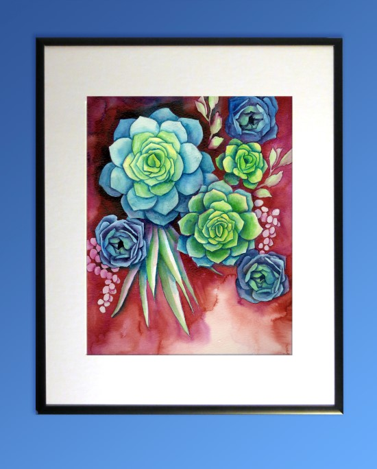 How to Paint Watercolor Succulents Step (13)