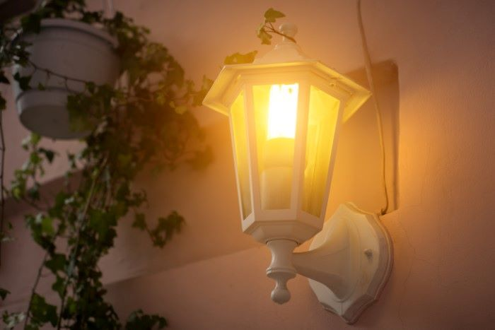 warm porch light