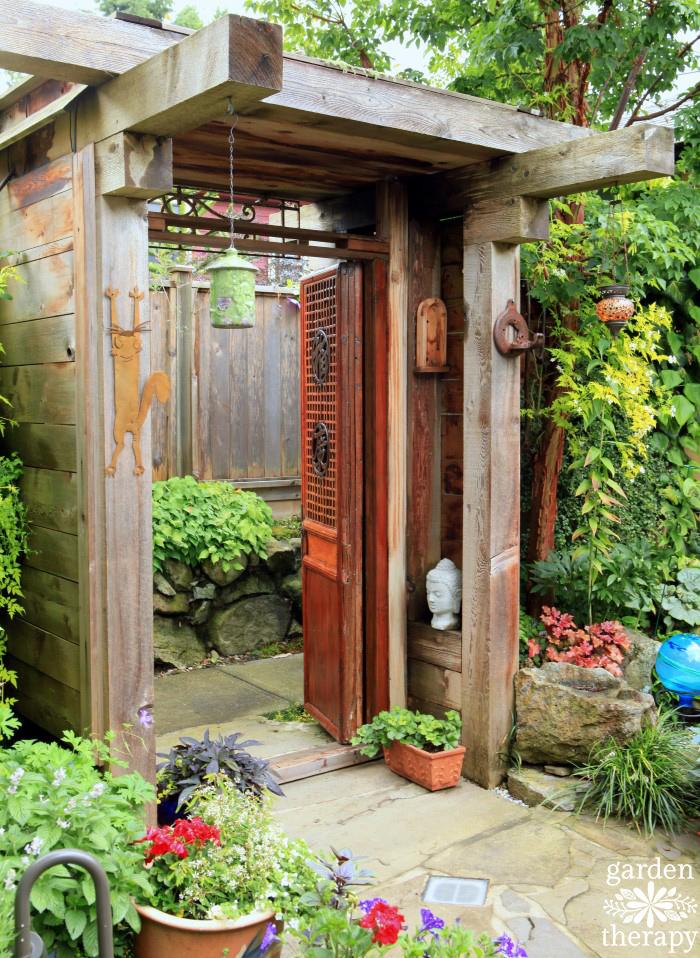 Entry to create a secret garden space
