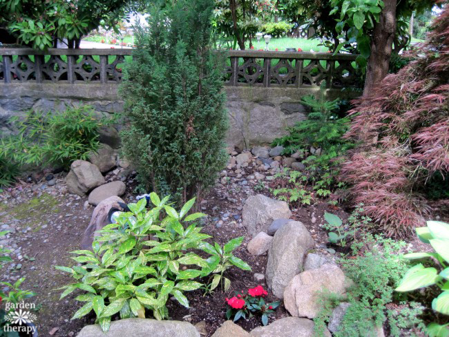 The Garden Fountain That Completely Transformed A Shady Front Yard