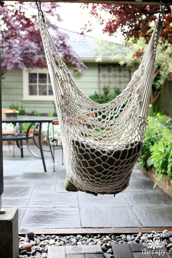 Hammock Chair Looking Towards Garden