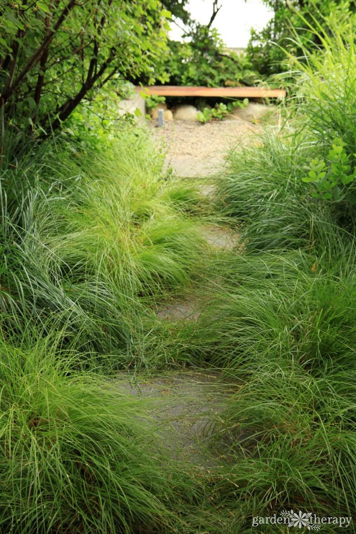 Pathway to a Secret Garden Wooden Bench