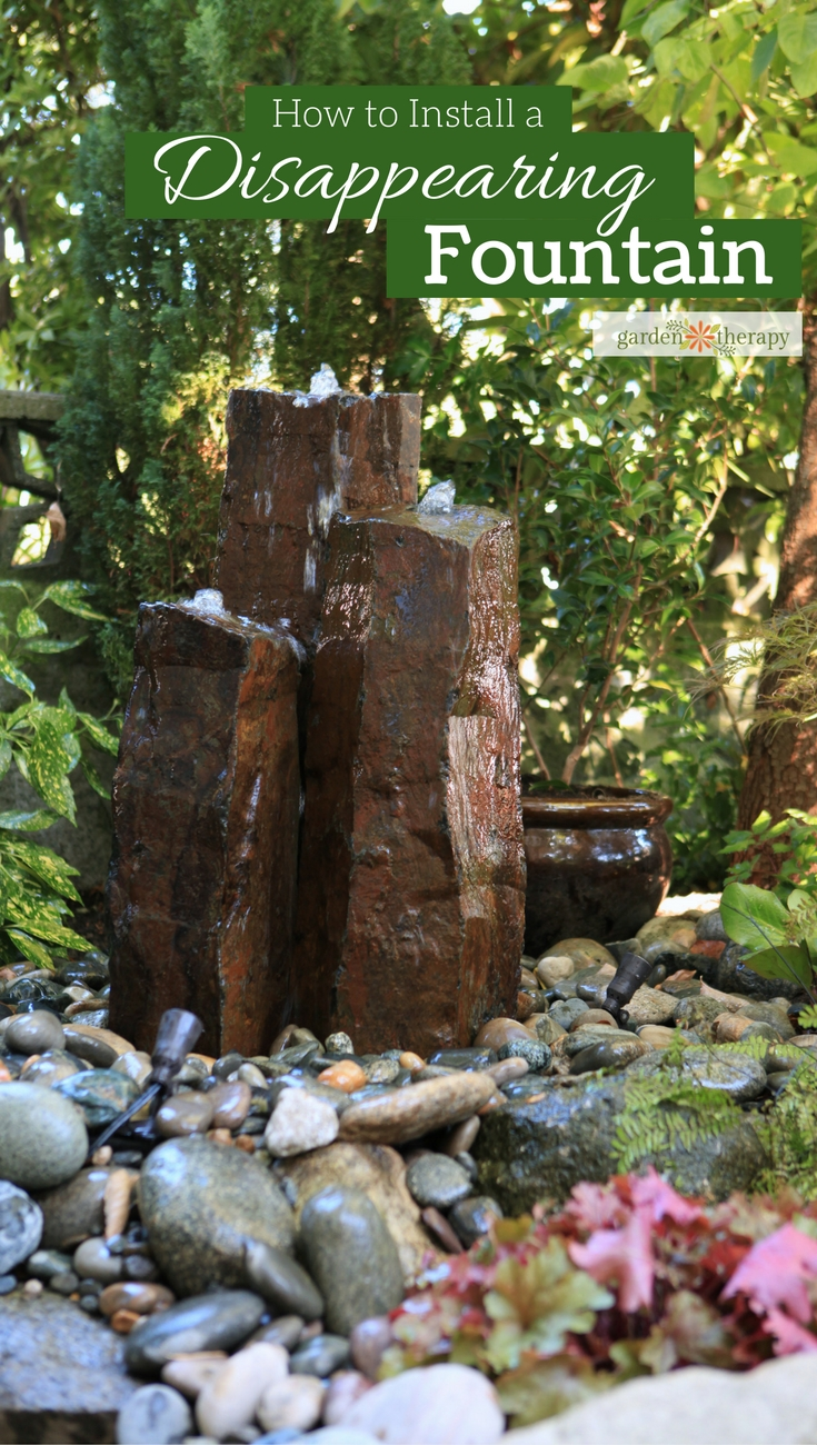 The step-by-step guide to install a disappearing fountain in your home garden