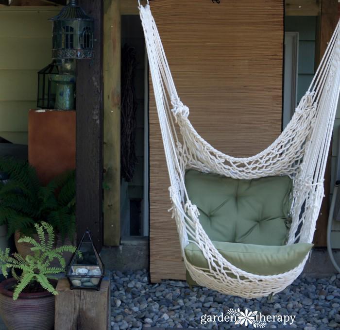 Zen Garden with Hammock Chair