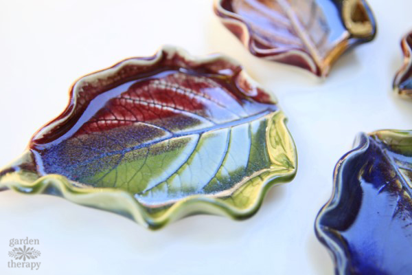 Hydrangea leaf dishes