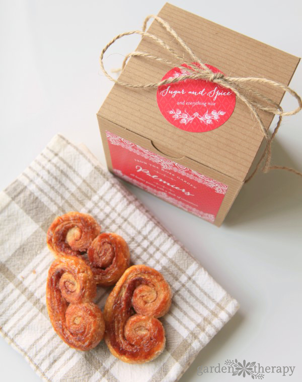 These flaky and sweet cinnamon palmiers fill the house with a warm butter-and-spice aroma. They also are very easy to make when unexpected guests arrive.