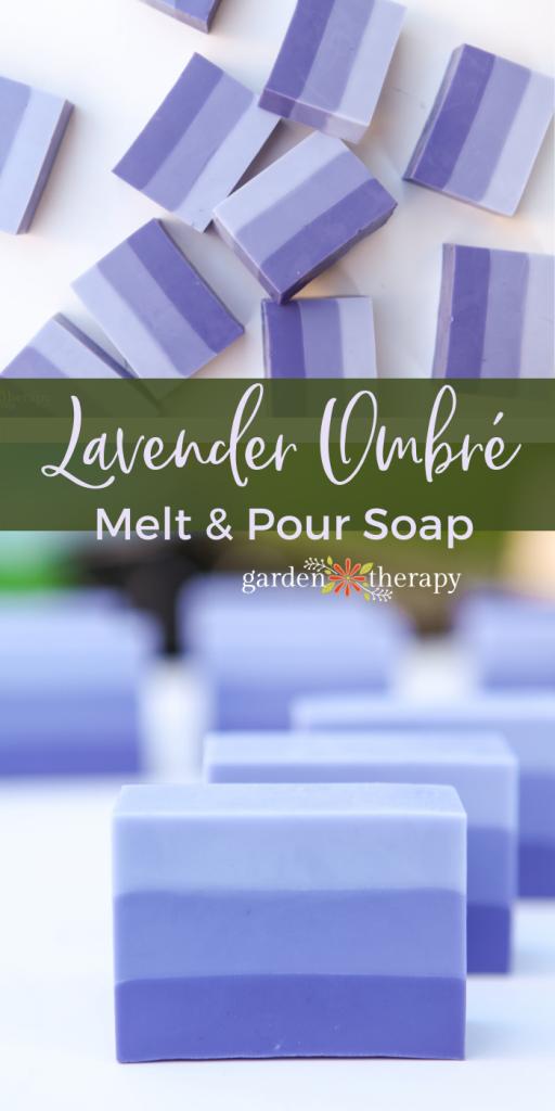 Lavender Ombre Melt and Pour Soap