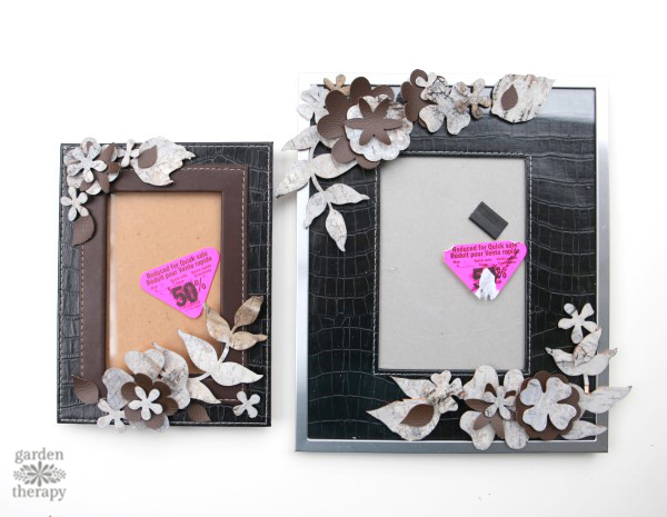 Take some inspiration from the outdoors by making a leather and birch bark picture frame that can be used in so many different ways around the house: to display photos, hang on wall as a wreath, or as a dry erase board.