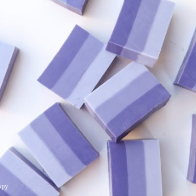 Lovely Lavender Ombre Melt and Pour Soap