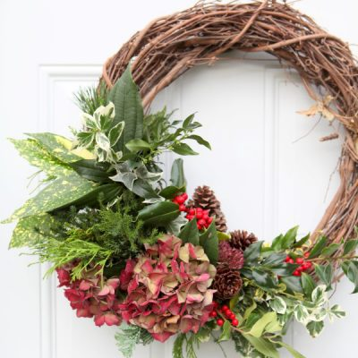 The Everything in the Garden Wreath: Fresh, Festive, and Free